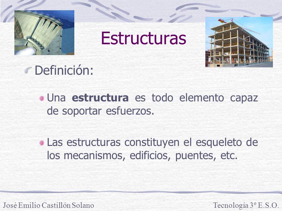 Estructuras Definición: Una estructura es todo elemento capaz de soportar esfuerzos.