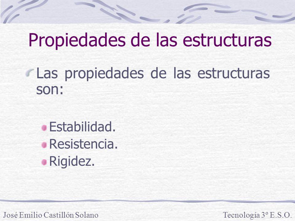 Propiedades de las estructuras Las propiedades de las estructuras son: Estabilidad.