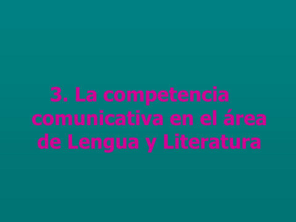 3. La competencia comunicativa en el área de Lengua y Literatura