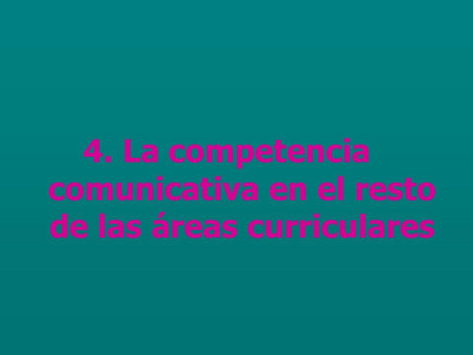 4. La competencia comunicativa en el resto de las áreas curriculares