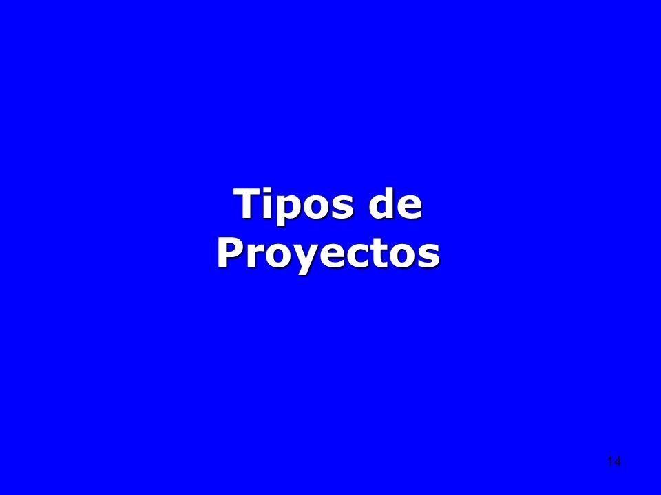 14 Tipos de Proyectos