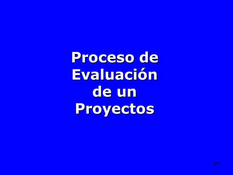 84 Proceso de Evaluación de un Proyectos