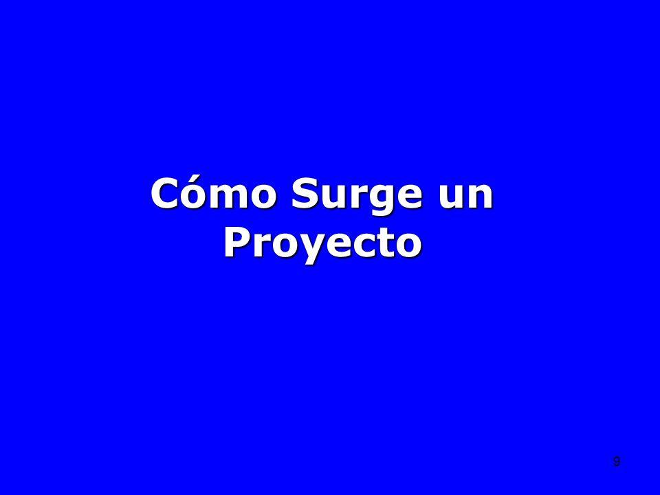 9 Cómo Surge un Proyecto