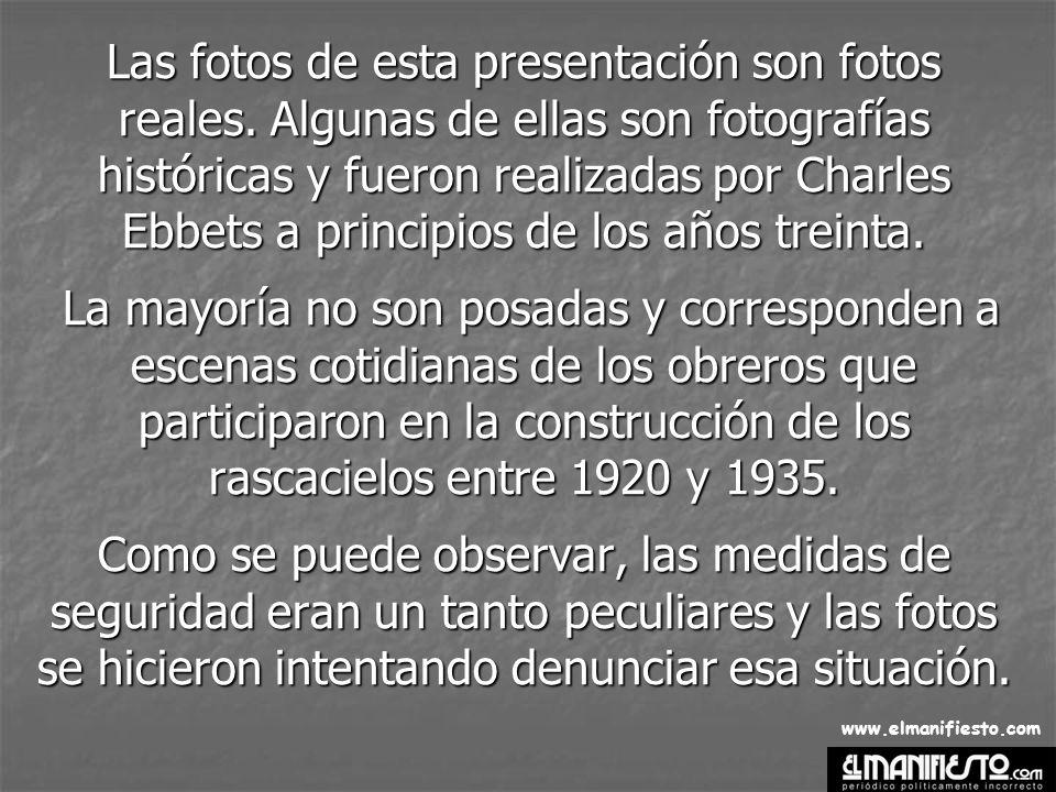 www.elmanifiesto.com ALMUERZO EN EL RASCACIELOS ÉRASE UNA VEZ EN LA AMÉRICA DE LOS AÑOS 30