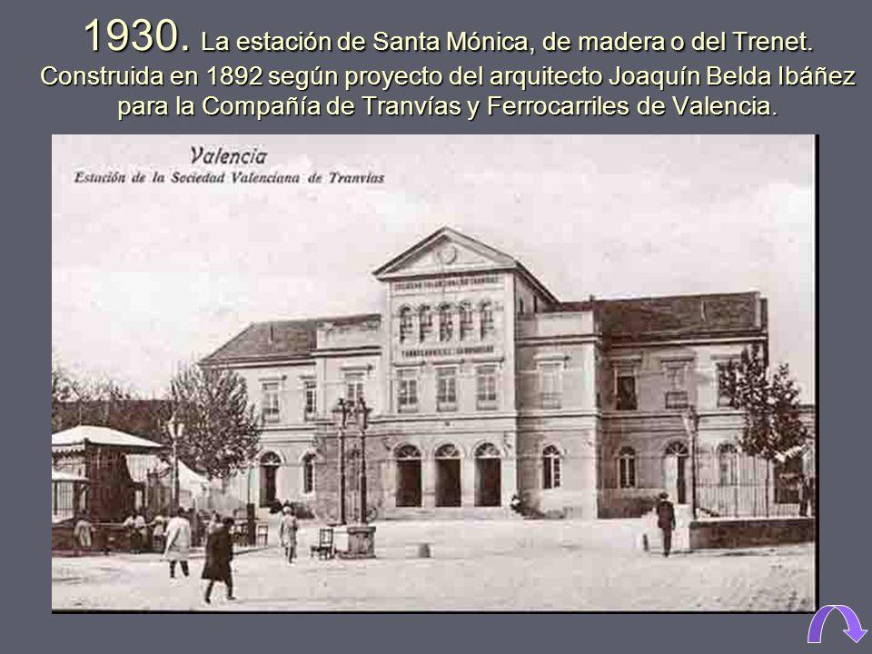 1972. Iglesia del convento de Santa Catalina, fundado en 1491, dentro de la ciudad amurallada, fue derribado para construir el Corte Inglés de Pintor