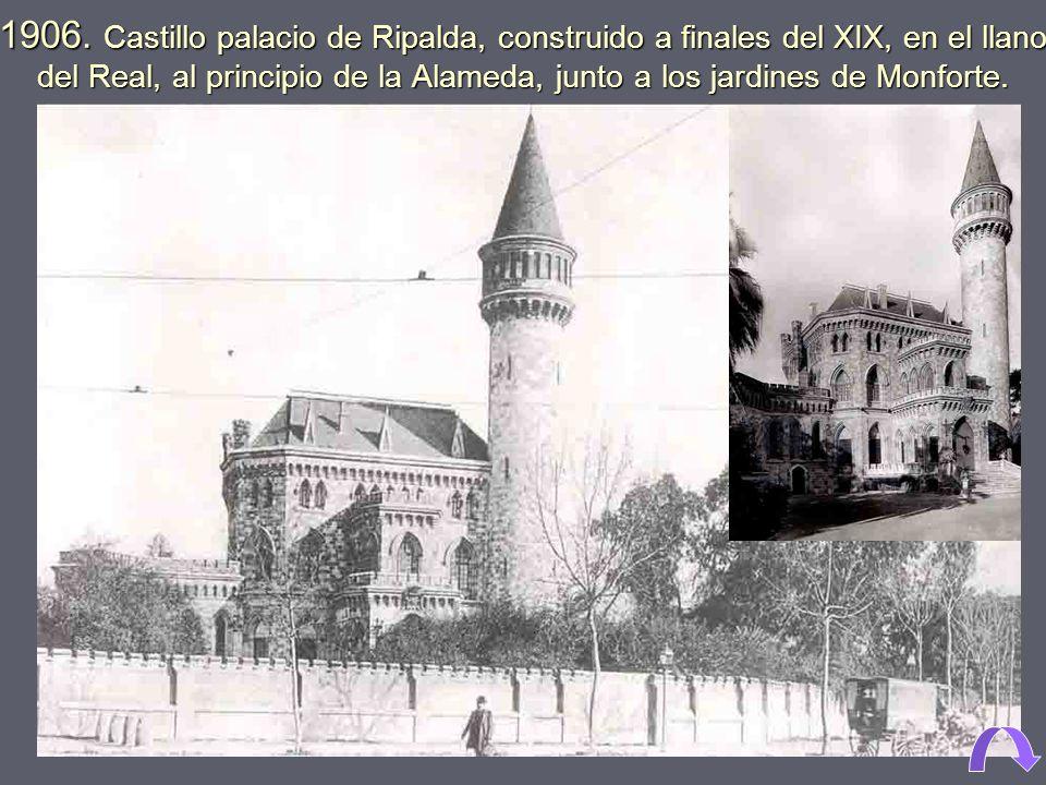 1950. Calle Doctor Oloriz, junto al Llano de Zaidía 1895. Campanar