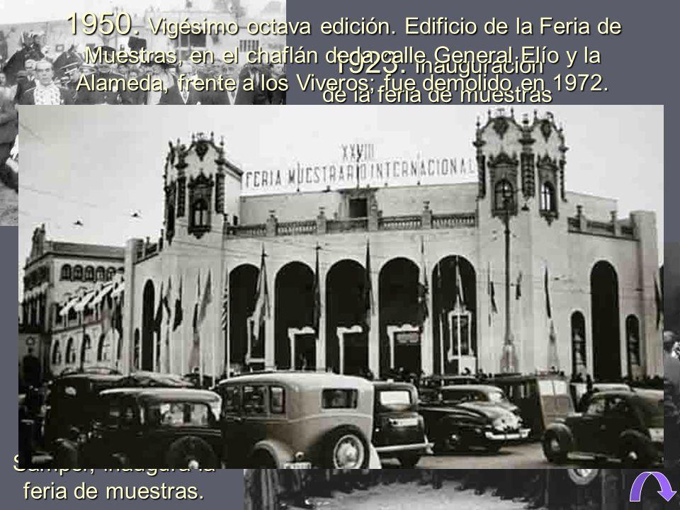 1917. Primera edición de la feria muestrario, celebrada en la recién inaugurada estación del Norte. La Feria Muestrario Internacional de Valencia, Fer