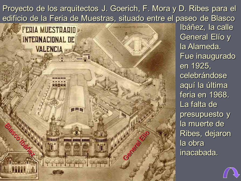 1967. Edificio de la Feria de Muestras. A comienzos de la década se realizaron modificaciones en él. Por detrás asoma la torre del palacio de Ripalda.