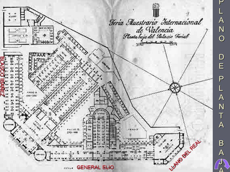 Proyecto de los arquitectos J. Goerich, F. Mora y D. Ribes para el edificio de la Feria de Muestras, situado entre el paseo de Blasco Ibáñez, la calle