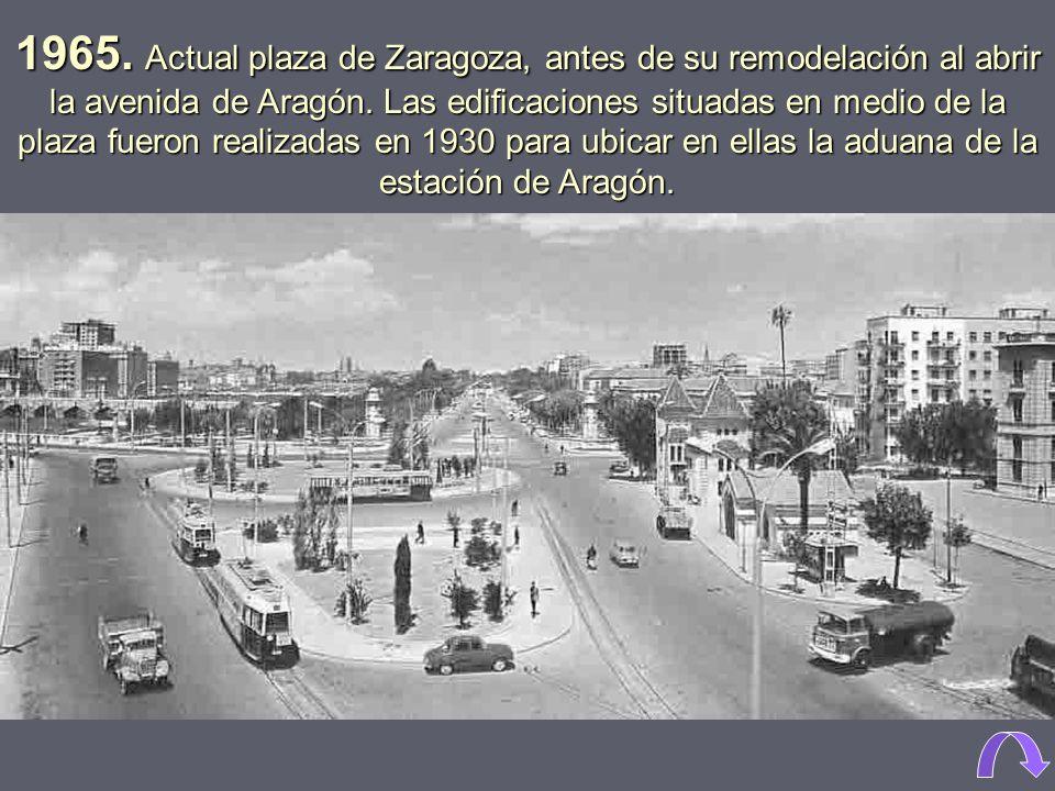 1965. Estación de Aragón, demolida en 1974.