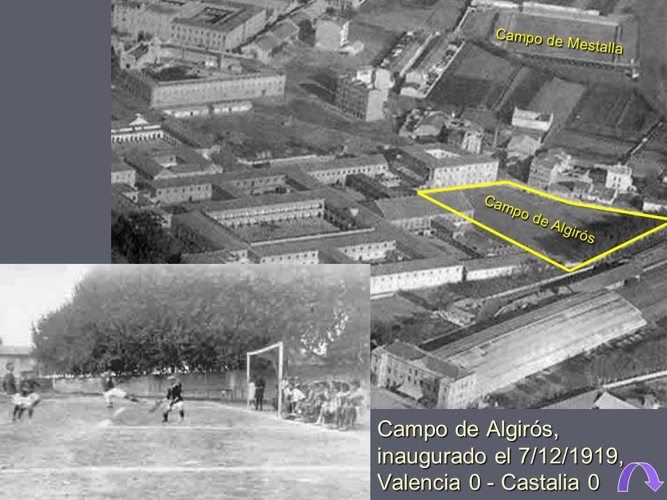1961. El Paseo de Valencia al Mar, junto a la huerta, con el colegio mayor Luis Vives en primer término. Monumento al relevo generacional. El mayor, a