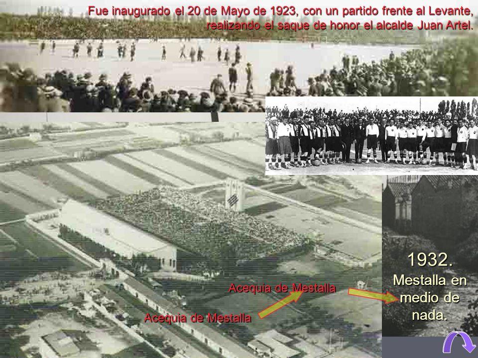 Campo de Algirós, inaugurado el 7/12/1919, Valencia 0 - Castalia 0 Campo de Algirós Campo de Algirós Campo de Mestalla Campo de Mestalla
