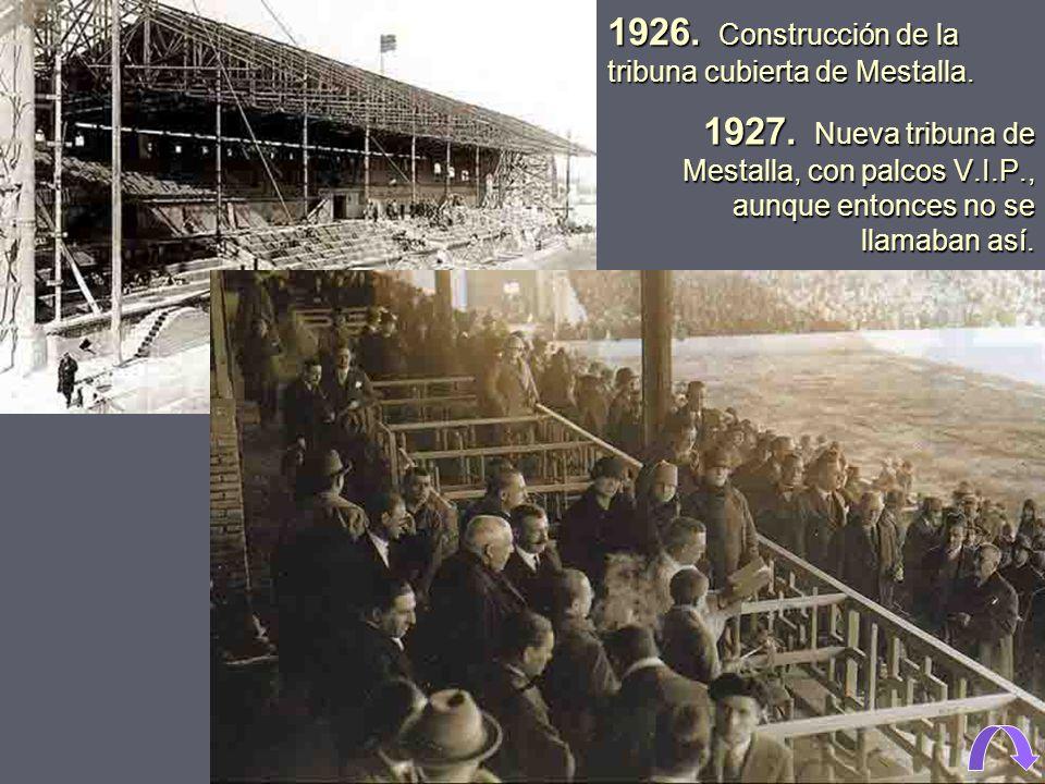 El Valencia C.F., siendo presidente Ramón Leonarte, compra unos terrenos de huerta, junto a la acequia de Mestalla, para realizar el nuevo campo de fú
