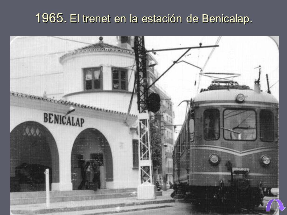 1933. Calle El Portalet, en Benicalap.