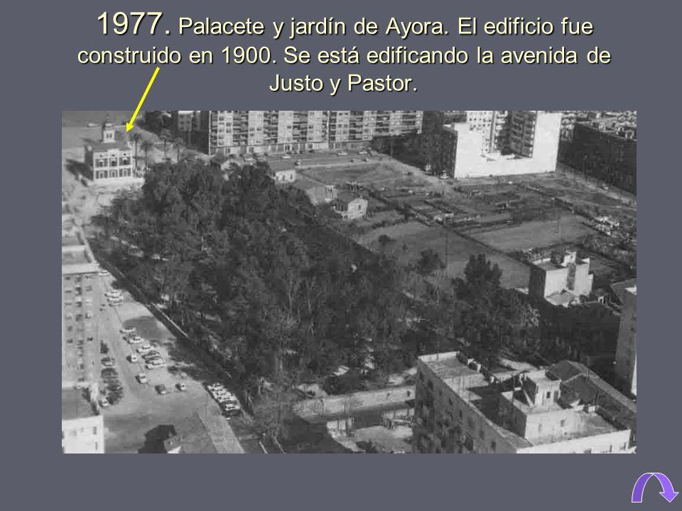 1960. Avenida Cardenal Benlloch.