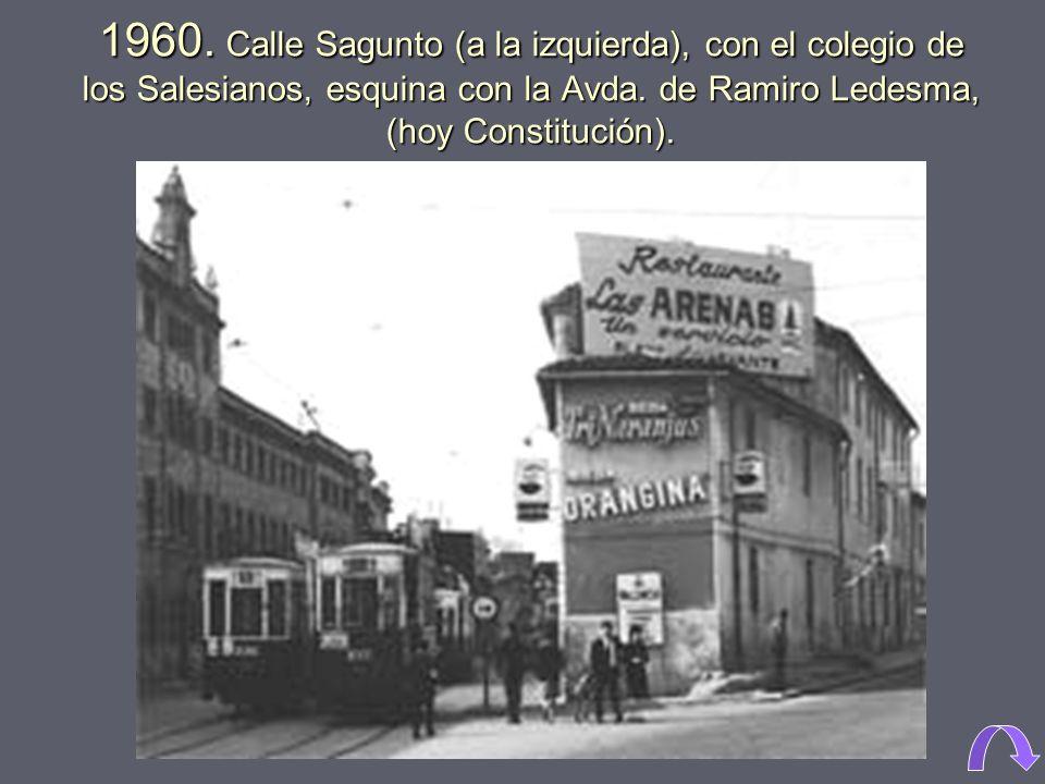 1969. Primeros pabellones de la ciudad sanitaria La Fe, junto a la avenida de Campanar. La Fe fue inaugurada en 1968, y cerrada en 2011.