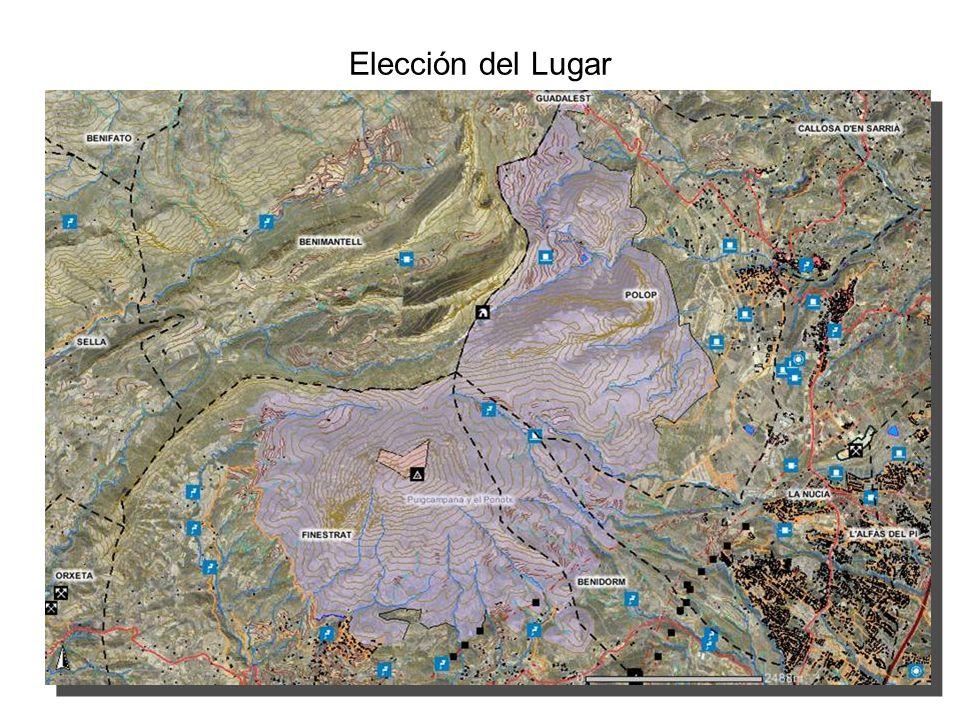 Elección del Lugar Parcela junto al Mas de la Monja propiedad del Ayuntamiento de La Vila Joiosa