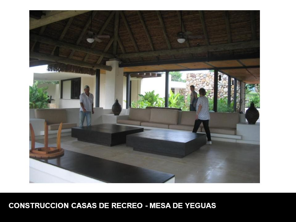 CONSTRUCCION CASAS DE RECREO - MESA DE YEGUAS