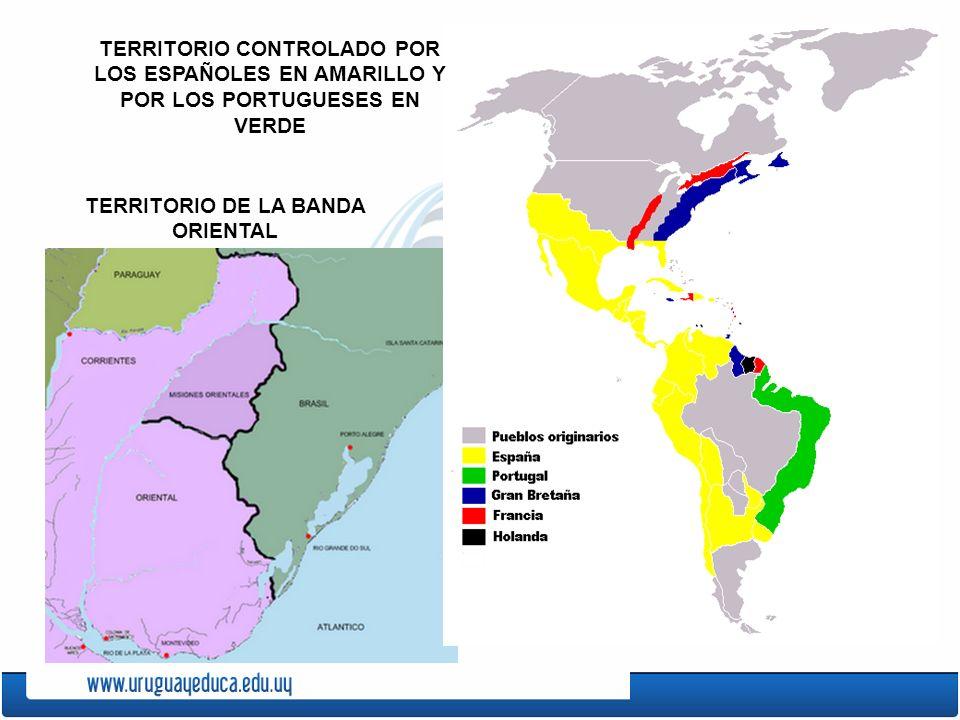 LOS EUROPEOS QUE LLEGARON AL TERRITORIO QUE AHORA ES URUGUAY FUERON, PRINCIPALMENTE, ESPAÑOLES Y PORTUGUESES. LE LLAMARON BANDA ORIENTAL. EN ELLA VIVÍ