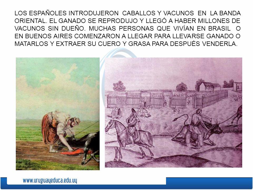 TERRITORIO DE LA BANDA ORIENTAL TERRITORIO CONTROLADO POR LOS ESPAÑOLES EN AMARILLO Y POR LOS PORTUGUESES EN VERDE