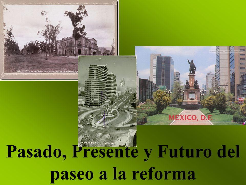 PASEO A LA REFORMA A FINALES DEL SIGLO XIX, NO HABÍA AUTOMÓVILES LOS INDIOS VERDES CLOCADOS A LOS LADOS DE LA AVENIDA., ¡SÍ.
