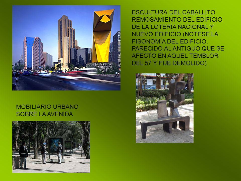 ESCULTURA DEL CABALLITO REMOSAMIENTO DEL EDIFICIO DE LA LOTERÍA NACIONAL Y NUEVO EDIFICIO (NOTESE LA FISONOMÍA DEL EDIFICIO, PARECIDO AL ANTIGUO QUE S