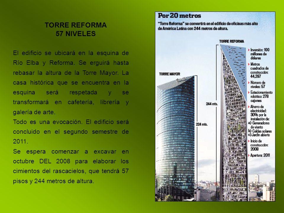 El edificio se ubicará en la esquina de Río Elba y Reforma. Se erguirá hasta rebasar la altura de la Torre Mayor. La casa histórica que se encuentra e
