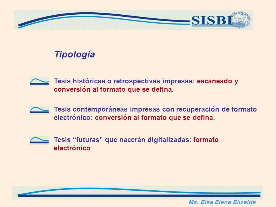 Tipología Ms.