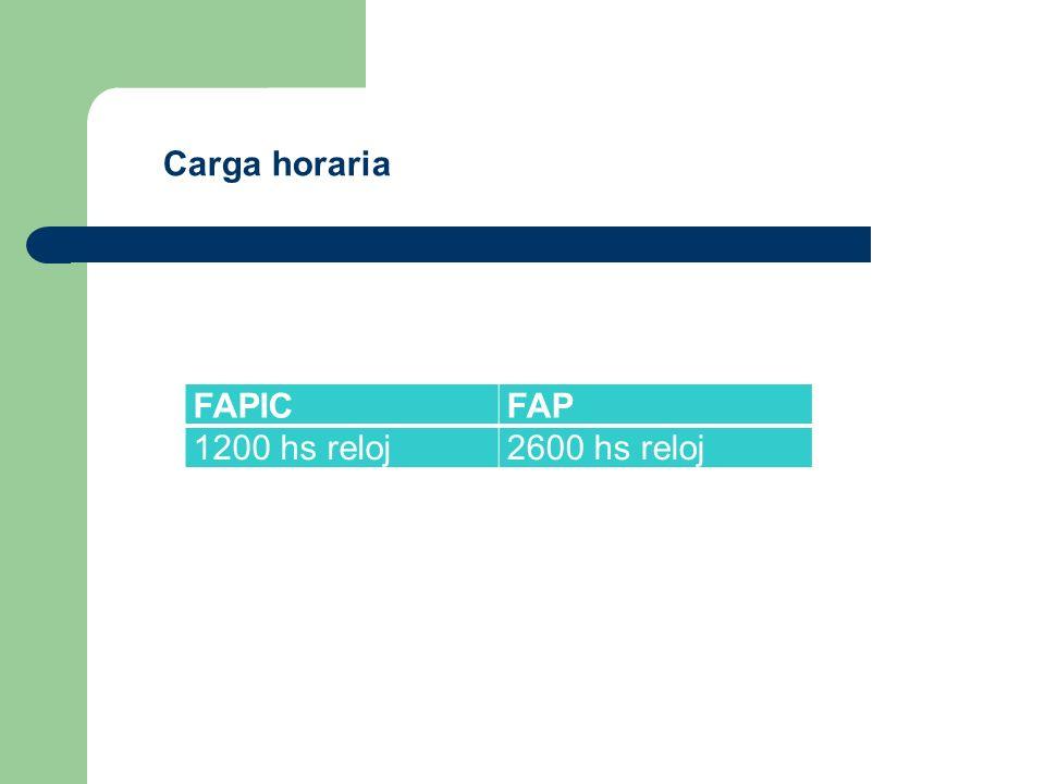 FAPICFAP 1200 hs reloj2600 hs reloj Carga horaria