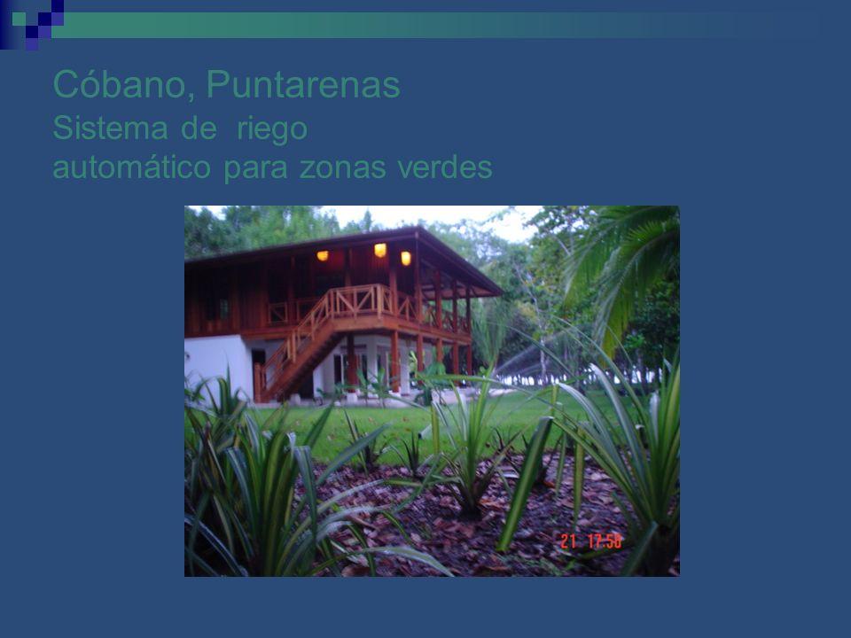Cóbano, Puntarenas Sistema de riego automático para zonas verdes