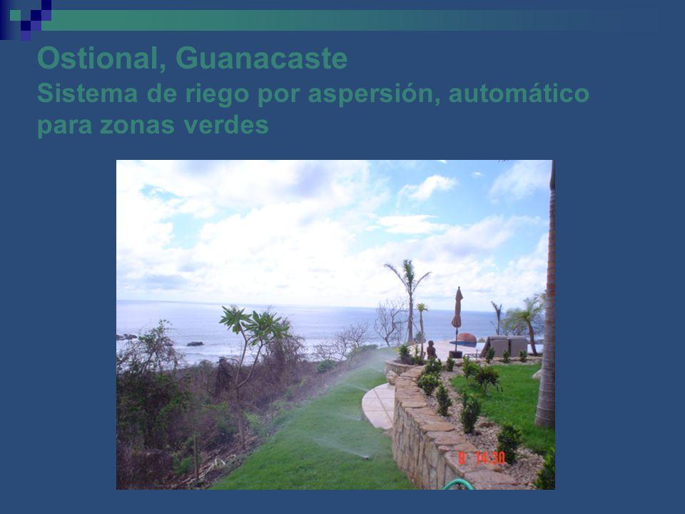 Ostional, Guanacaste Sistema de riego por aspersión, automático para zonas verdes