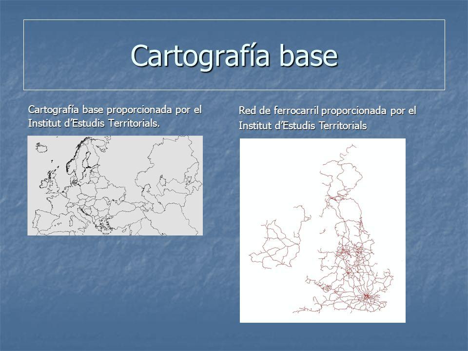 Cartografía base Cartografía base proporcionada por el Institut dEstudis Territorials.