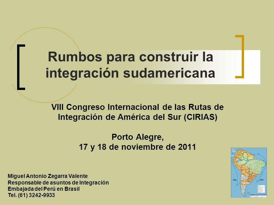 El enfoque estratégico del Perú en torno a la los procesos de integración fronteriza está asociado la Sexta Política de Estado del Acuerdo Nacional : e impulsará el desarrollo sostenible de las regiones fronterizas del país y su integración con espacios similares de los países vecinos.