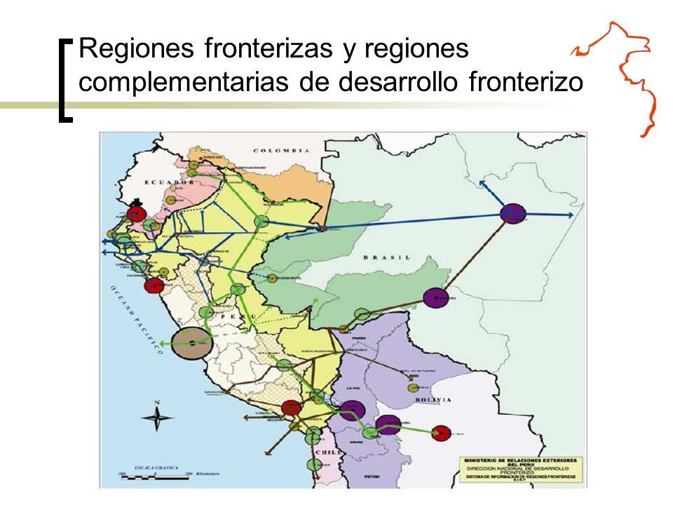 Regiones fronterizas y regiones complementarias de desarrollo fronterizo