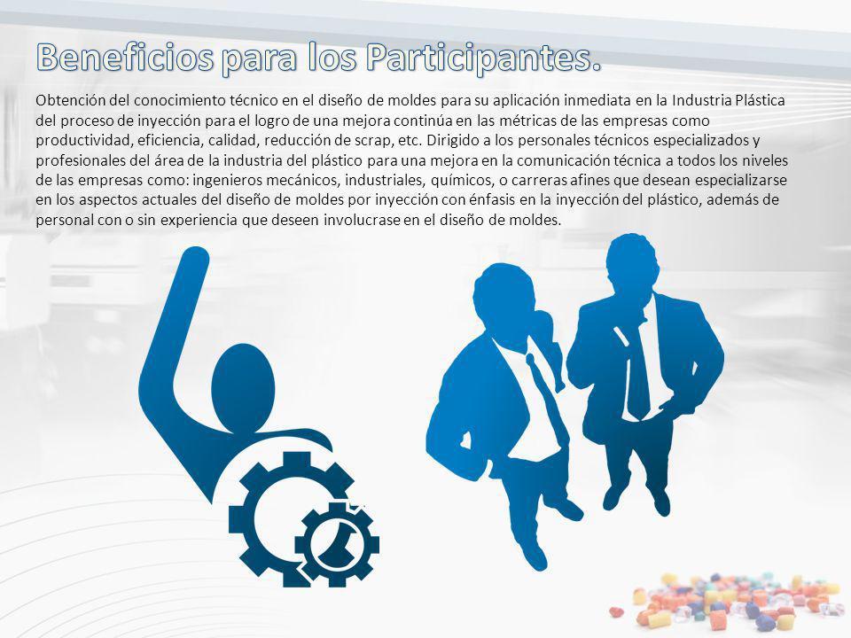 Obtención del conocimiento técnico en el diseño de moldes para su aplicación inmediata en la Industria Plástica del proceso de inyección para el logro