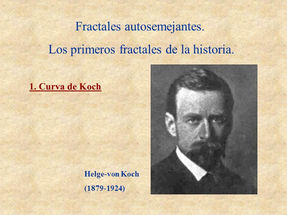 Fractales autosemejantes. Los primeros fractales de la historia. 1. Curva de Koch Helge-von Koch (1879-1924)