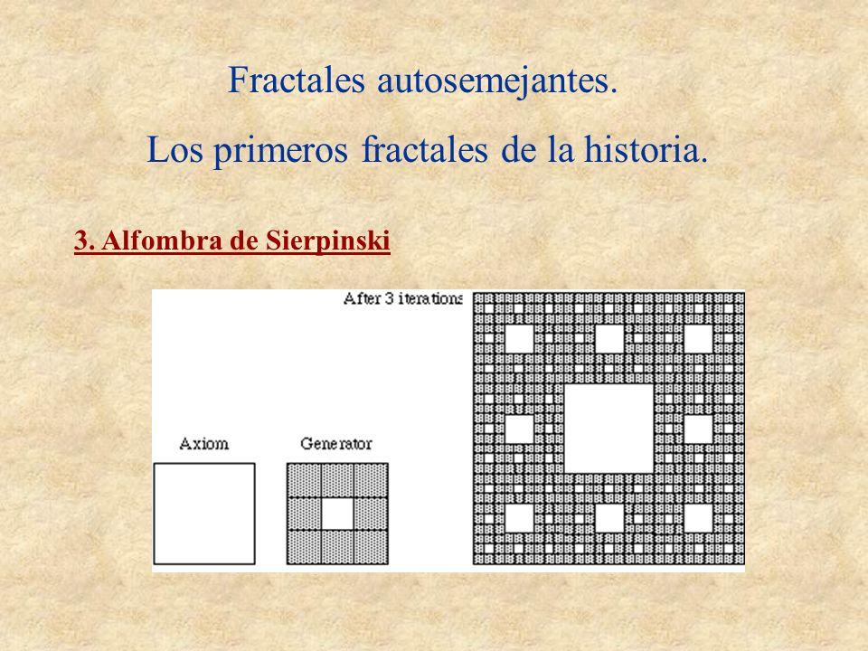 Fractales autosemejantes. Los primeros fractales de la historia. 3. Alfombra de Sierpinski