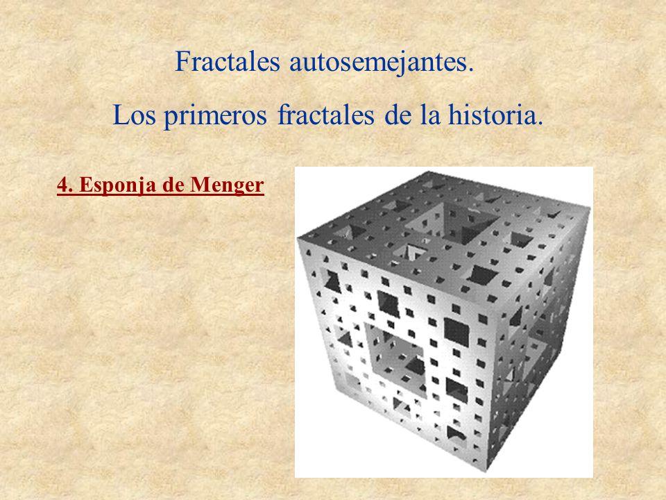 Fractales autosemejantes. Los primeros fractales de la historia. 4. Esponja de Menger