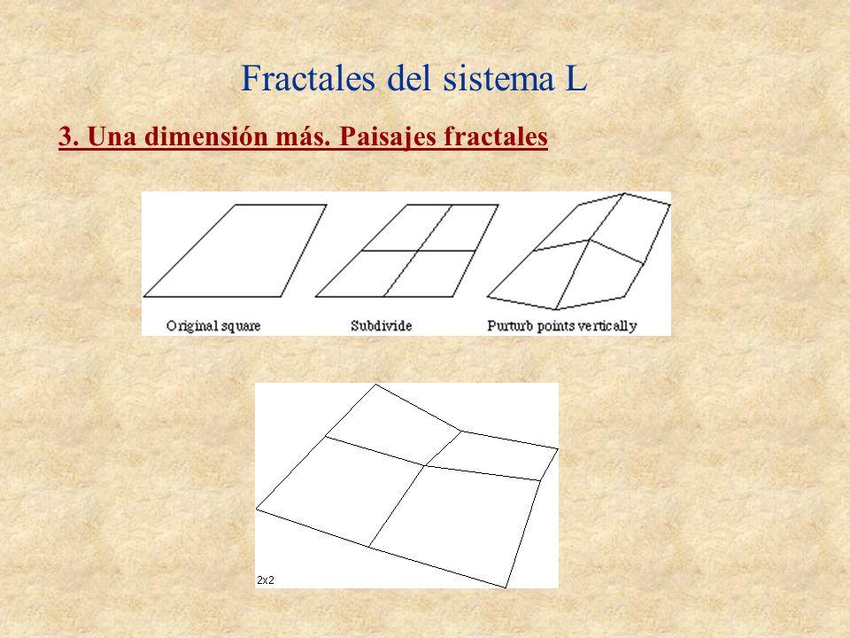 Fractales del sistema L 3. Una dimensión más. Paisajes fractales
