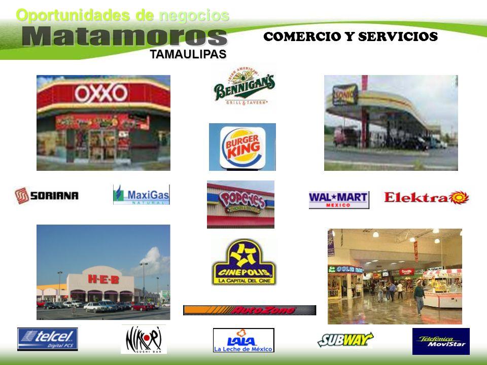 Oportunidades de negocios TAMAULIPAS COMERCIO Y SERVICIOS