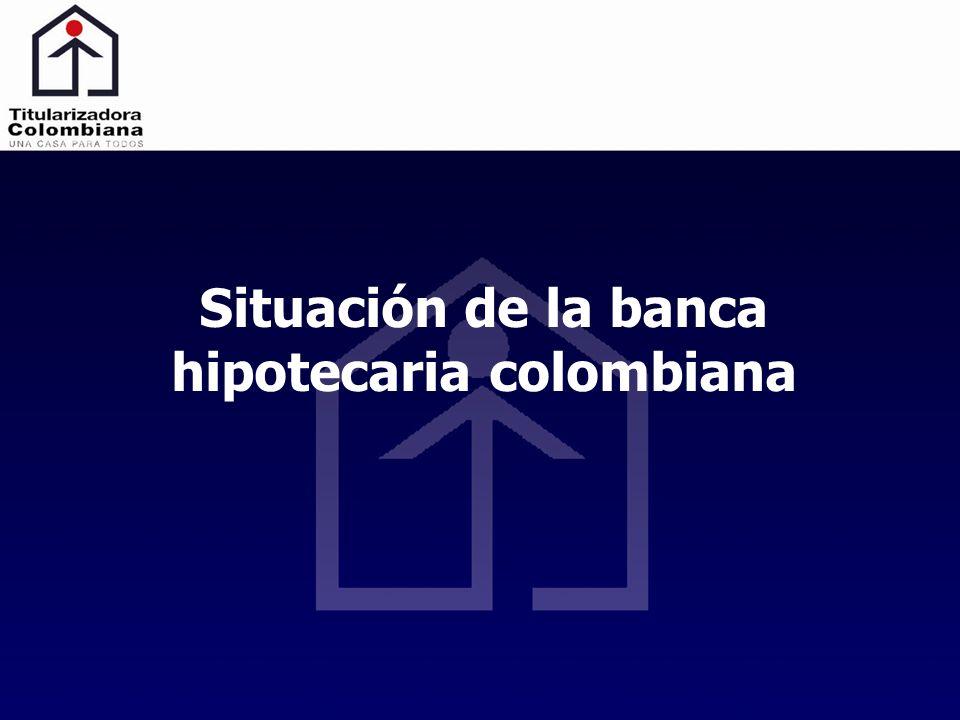 Situación de la banca hipotecaria colombiana