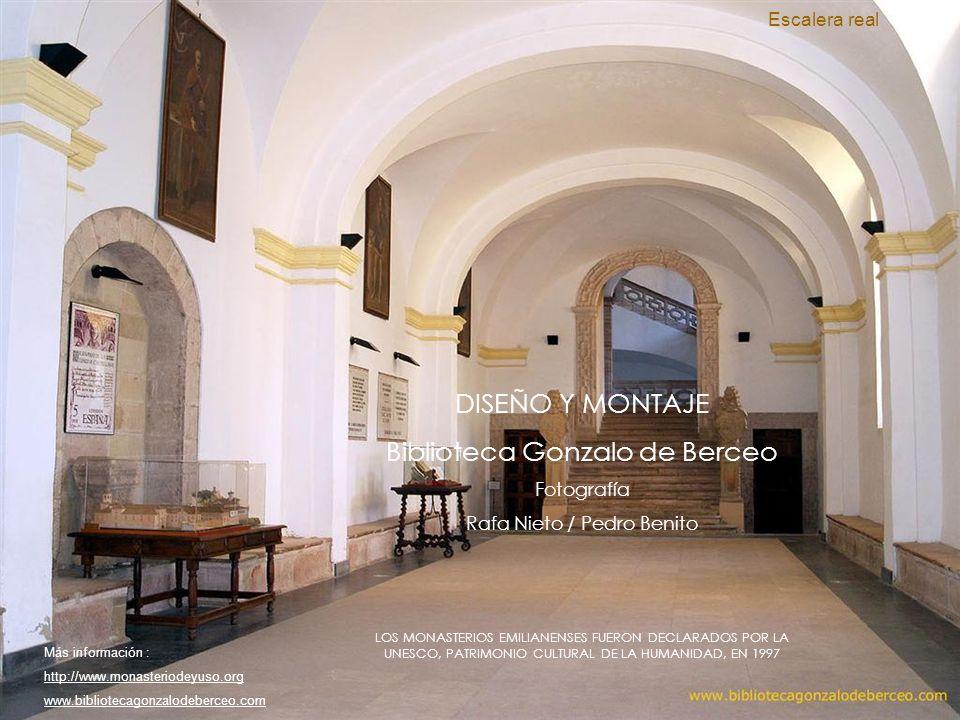 Salón de la Lengua. Inaugurado en 1977 con motivo de las celebraciones del Milenario de la Lengua Castellana, hoy es el lugar emblemático del monaster