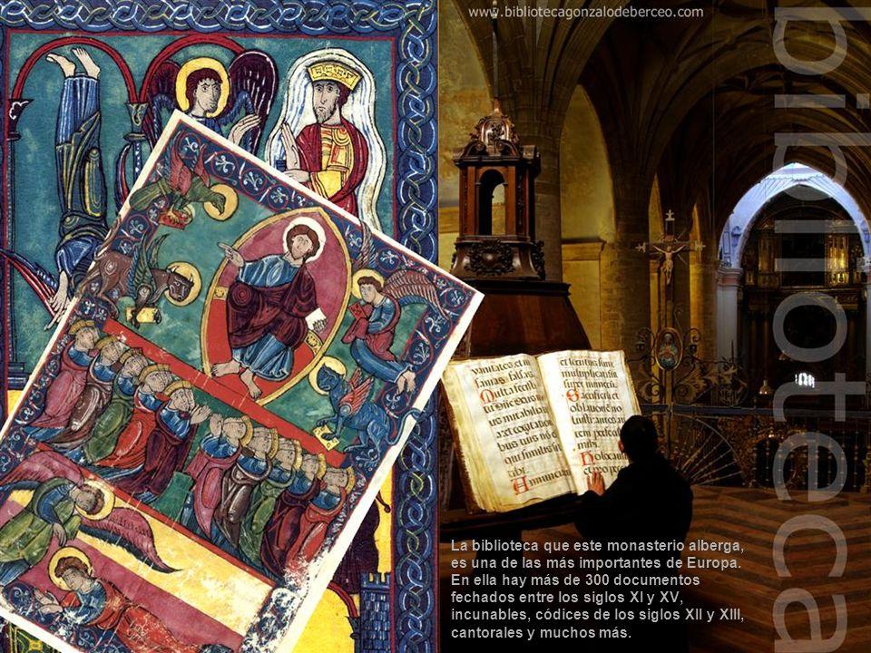 La iglesia es de tres naves con preciosas columnas corintias y varios cuadros de Juan Rizzi (el cuadro central representa a San Millán en la batalla d
