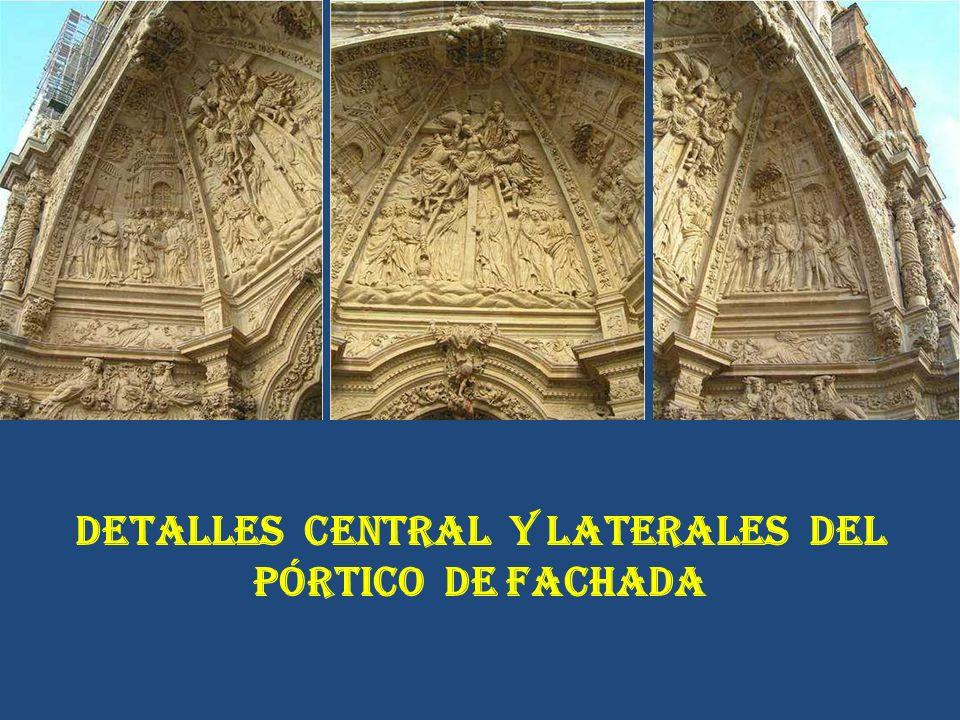DETALLES CENTRAL Y LATERALES DEL PÓRTICO DE FACHADA