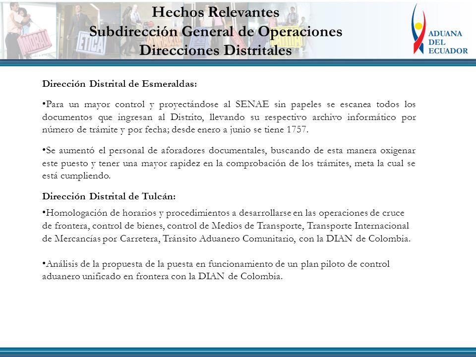 Dirección Distrital de Esmeraldas: Para un mayor control y proyectándose al SENAE sin papeles se escanea todos los documentos que ingresan al Distrito