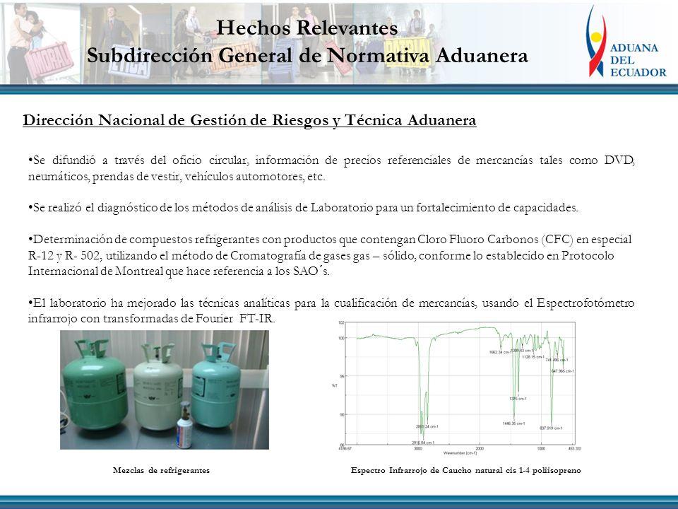 Dirección Nacional de Gestión de Riesgos y Técnica Aduanera Se difundió a través del oficio circular, información de precios referenciales de mercancí