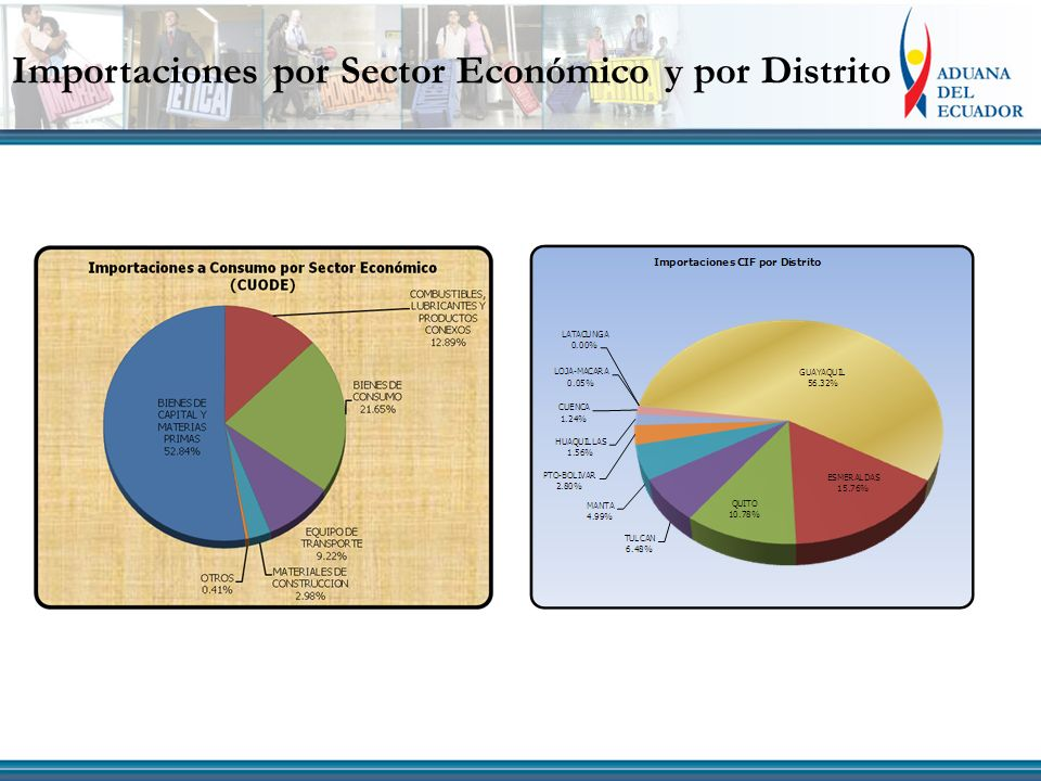 Importaciones por Sector Económico y por Distrito