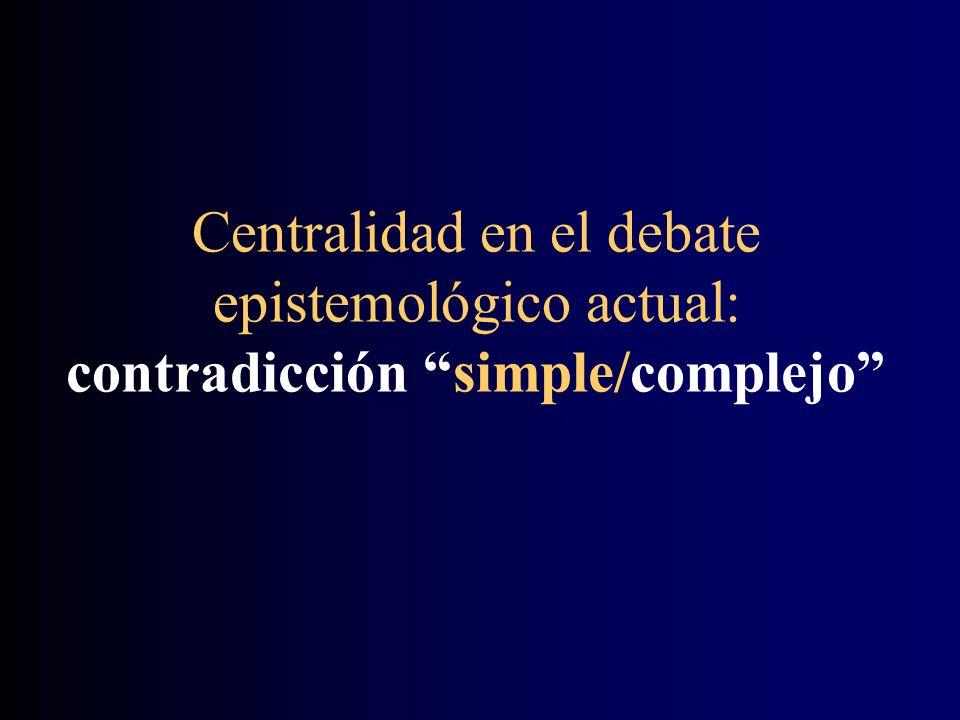 Centralidad en el debate epistemológico actual: contradicción simple/complejo