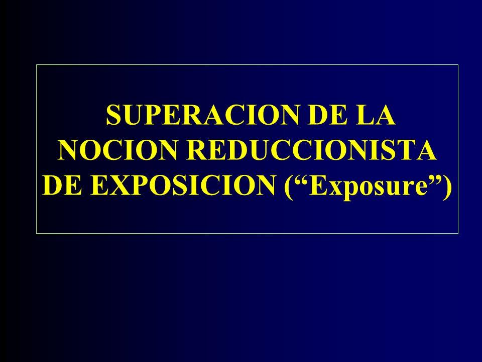 SUPERACION DE LA NOCION REDUCCIONISTA DE EXPOSICION (Exposure)