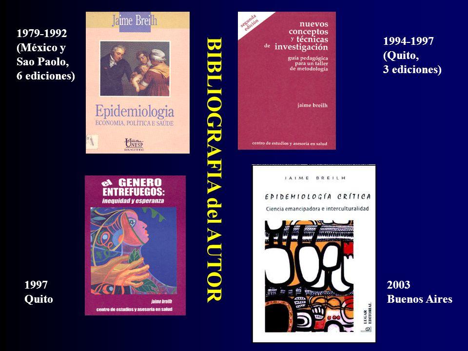 BIBLIOGRAFIA del AUTOR 1979-1992 (México y Sao Paolo, 6 ediciones) 1994-1997 (Quito, 3 ediciones) 1997 Quito 2003 Buenos Aires